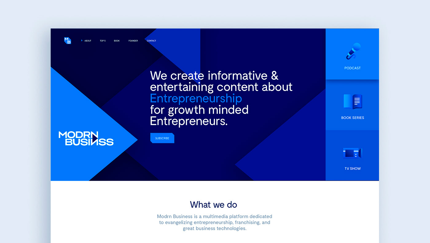 Modrn Business: Landing Page