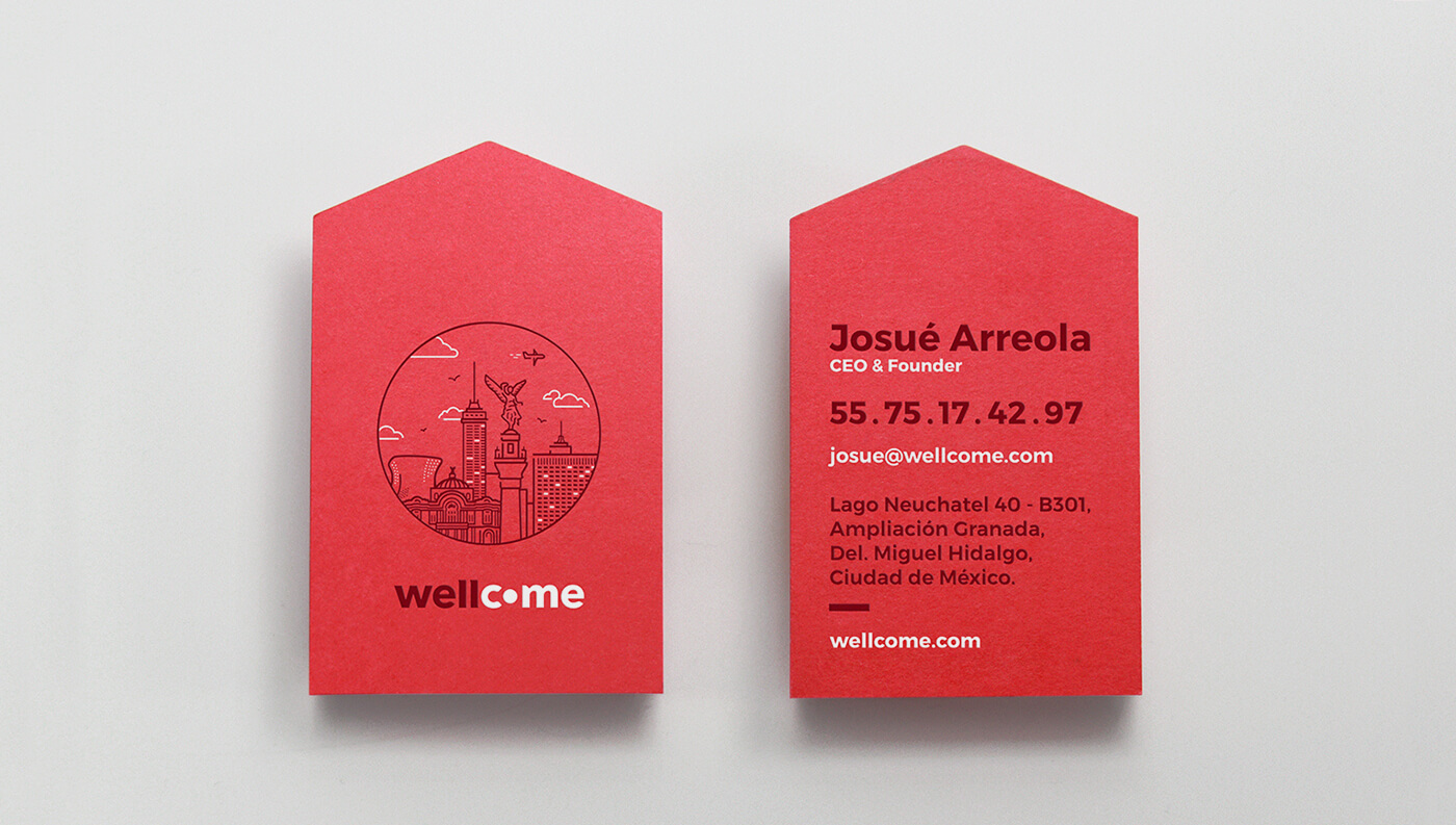 Wellcome: Business Cards, front & back