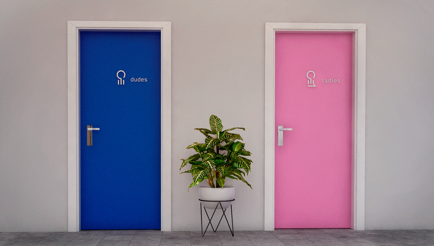 Das · Lab: Restrooms Signage